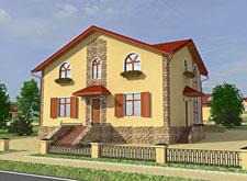 коттеджный поселок Венский квартал, макет дома 1
