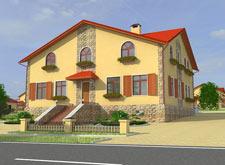 Коттеджный поселок Венский квартал, макет дома 3